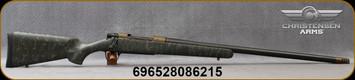 "Christensen Arms - 280AI - Ridgeline - Bolt Action Rifle - Green w/Black & Tan Webbing Carbon Fiber Composite Sporter Stock/Burnt Bronze Finish/Carbon Fiber Wrapped, 26"" Threaded Barrel, Mfg# 801-06027-00"