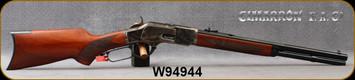 "Cimarron - 44-40Win - Texas Brush Popper - Checkered Walnut Pistol Grip Stock/Case Hardened Frame/Standard Blued Finish, 18"" 1/2 Octagon 1/2 Round Barrel, 10+1 Capacity, Mfg# CA2024, S/N W94944"