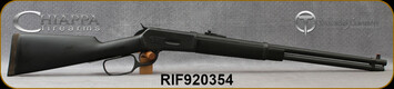 "Taylor's & Co - Chiappa - 45/70Govt - Model 1886 Carbine - Lever Action - Black Rubberized Stock/Blued, 22""Barrel, Skinner Ghost Sights, Mfg# RIF920.354"