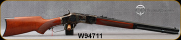 """Taylor's & Co - Uberti - 44-40Win - 1873 Pistol Grip Rifle  - Lever Action - Walnut Stock/Case Colored Frame/Blued Finish, 20""""Octagon Barrel, 10 Round Capacity, Mfg# 205, S/N W94711"""