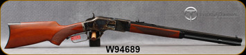 """Taylor's & Co - Uberti - 44-40Win - 1873 Pistol Grip Rifle  - Lever Action - Walnut Stock/Case Colored Frame/Blued Finish, 20""""Octagon Barrel, 10 Round Capacity, Mfg# 205, S/N W94689"""