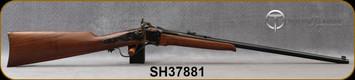 "Taylor's & Co - Pedersoli - 17Hornet - Sharps Small Game - American Walnut Stock/Case Hardened Frame/Blued, 24""Barrel, Blade Front Sight, Buckhorn Rear Sight, Mfg# S764.017, S/N SH37881"