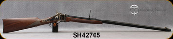 "Taylor's & Co - Pedersoli - 45-70Govt - Sharps Sporting No3 - American Walnut Stock/Case Hardened Frame/Blued, 32""Octagonal Barrel, Blade Front Sight, Ladder Rear Sight, Mfg# S780.457, S/N SH42765"