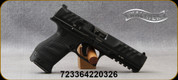 """Walther - 9mm - PDP Compact Optic Ready - Semi-Auto - Black Textured Grips w/Spare Backstraps/Reinforced Polymer Frame, Tenifer Black Finish, 5""""Barrel, Mfg# 2858169"""