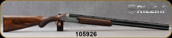 """Rizzini - 16Ga/2.75""""/29"""" - Round Body Regal - O/U Boxlock - Select Turkish Walnut Prince of Wales Checkered Stock/Roundbody Steel frame w/sideplates & Hand finished scroll engraved receiver/Blued, Vent-Rib Barrels, Auto Ejectors, S/N 105926"""