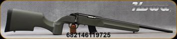 "Howa - 22LR - M1100 Rimfire Rifle - OD Green HTI Synthetic Stock/Black Finish, 18""#4 Contour, Light Varmint, Threaded Barrel, (2) 10rd magazines, Mfg# HRF22LRG"