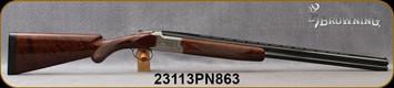 "Consign - Browning - 20Ga/3""/28"" - Citori Pigeon Grade - O/U - Grade III Walnut Prince of Wales Stock/Engraved Nickel Receiver/Blued, vent-rib barrel, 4pc.original chokes - In black hard plastic case"