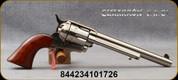 "Cimarron - 45LC - U.S Cavalry Scout - 6-Shot Revolver - Walnut Grips/Polished Nickel Finish, 7.5""Barrel, Mfg# CA514N00M00"