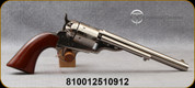 """Taylor's & Co - Uberti - 45LC - 1860 Open Top Army - Walnut Army Grips/Engraved Cylinder/Nickel Finish, 7.5""""Barrel, Mfg# 0916N00"""
