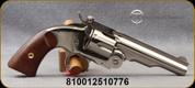 "Taylor's & Co - 38SP - Top-Break Schofield - 6-shot Revolver - Walnut Grips/Nickel Finish, 5""Barrel, Mfg# 0858N04"