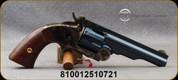 "Taylor's & Co - Uberti - 44-40 - Top Break Schofield Revolver - Walnut Grips/Case Hardened Frame/Charcoal Blue Finish, 5"" Barrel, 6 Shot, Mfg# REV0856C09"