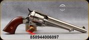 "Taylor's & Co - 45LC - Uberti - 1875 Army Outlaw - Single Action Revolver - Walnut Grips/Nickel Finish, 7.5""Barrel, Mfg# 0151N00"