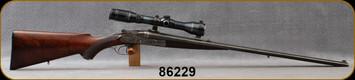 "Consign - JP Sauer & Sohn - 11.15x60R(Mauser) - Paul Paulsen - Sidelock Double Rifle - Walnut Stock/Blued, 26""Barrels, B Nickel Variable Scope, 2.5-6X, German #4 Reticle, 34pcs Brass, Dies - Imported & finished by Paul Paulsen"