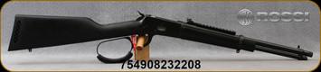 "Rossi - 357Mag - Model R92 Triple Black Carbine - Lever Action - All-Weather Black on Black Splatter Painted Wood Stock/Black Cerakote, 16.5""Threaded Barrel, 8 Round Tubular Magazine, Paracord Wrapped Lever, Picatinny rail, Mfg# 923571613-TB"