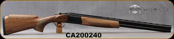 "Huglu - 12Ga/3""/26 - S12E - Ladies/Youth O/U - Grade AA Turkish Walnut Monte Carlo Stock w/Adjustable Comb/Black Receiver/Chrome-lined barrels, M Choke, SKU# 8681715390864-2, S/N CA200240"