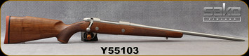 """Sako - 270Win - 85M Hunter Stainless - Oil-Finish Walnut Stock/Stainless, 22.4""""Barrel, Single Stage Trigger, 1:10""""Twist, Mfg# SBW21H61A, S/N Y55103"""