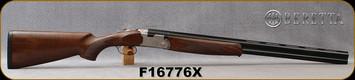 """Beretta - 12Ga/3""""/28"""" - Model 686 Silver Pigeon I - O/U - Walnut Stock w/Schnabel Forend/Engraved receiver/Blued Barrels, 6x6Rib, Mfg# 3W46P1L2AA311, S/N F16776X"""