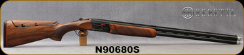 """Beretta - 12Ga/3""""/30"""" - Model 690 Sporting Black - O/U - Grade II Walnut w/B-FAST Adjustable Comb/Black Receiver/Blued, Steelium Barrels, 10x8 Vent Rib, Single Selective Trigger, Mfg# 4Q765B1200101, S/N N90680S"""