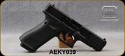 "Used - Glock - 9mm - G17 Gen 5 - Semi Auto Pistol - Black Finish, Modular Backstraps, 4.49"" Barrel - Fixed Sights - (3)10rd Magazines - Mfg# UA175S201 - Low rounds - In original case"