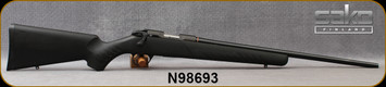 """Used - Sako - 17HMR - Quad Synthetic - Bolt Action Rimfire Rifle - Black Synthetic Stock/Blued, 22""""Free Floating Cold Hammer Forged Hunting Contour Barrel, Mfg# S1702LL10/JRSR108BB, c/w Optilock 11mm bases - New, Unfired - In original box"""
