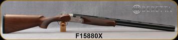"""Beretta - 20Ga/3""""/28"""" - Model 686 Silver Pigeon I - O/U - Walnut Stock w/Schnabel/Nickel Finish Engraved Receiver/Blued Barrels, 6x6Rib, Optima BoreHP Choke, Mfg# 3W48P1L2AA311, S/N F15880X"""