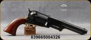 """Taylor's & Co - 44Cal - Model 1848 1st Model Dragoon - Black Powder Revolver - Wood Grips/Case Hardened Frame/Engraved Cylinder/Brass Trigger Guard & Backstrap/Blued, 7.5"""" Barrel, Mfg# 485A"""