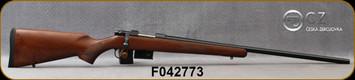 "CZ - 223Rem - Model 527 Euro Varmint - American-pattern Turkish Walnut Stock/Blued, 25.6""Heavy Barrel, Integrated scope mounts, detachable 5rd box magazine, 1:9""Twist, Single Set Trigger, 5274-6407-JAAKAB5, S/N F042773"