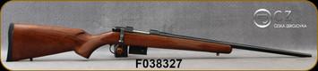 "CZ - 223Rem - Model 527 American - Bolt Action Rifle - American Style Turkish Walnut Stock/Blued, 21.875""Barrel, 5 Round Detachable Magazine, Integrated 16mm Scope Base, Mfg# 5274-6405-UAAKAB5, S/N F038327"