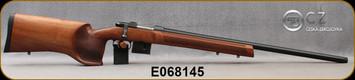 "Used - CZ - 6.5Grendel - Model 527 Varmint MTR - Bolt Action Rifle - Walnut Stock/Blued Finish, 25.6""Barrel, 5 Round Detachable Magazine, Integrated 16mm Scope Base, Mfg# 5274-0846-TFAKAA5,low rounds fired - In original box"