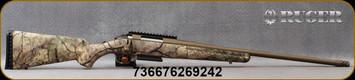"""Ruger - 243Win - American - Go Wild® Camo I-M Brush/Bronze Cerakote, 22""""Threaded Barrel, Ruger Marksman Adjustable Trigger, MFG# 26924"""