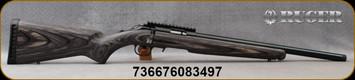"Ruger - 22WMR - Ruger American Rimfire Target - Bolt Action Rifle - Black Laminate Stock/Blued Finish, 18""Threaded 1/2""x28 Heavy Barrel, Mfg# 08349"