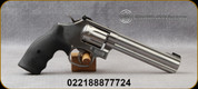 """Smith & Wesson - 22WMR - Model 648 - 8-round Double Action Revolver - Black Synthetic Grips/Stainless Steel, 6""""Barrel, Patridge Front Sight, Mfg# 12460"""