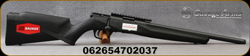 "Savage - 22LR - B Series B22 FV-SR - Bolt Action Rifle - Black Synthetic Stock/Matte Black Finish, 16.25""Threaded Barrel, 10 Round Detachable Rotary Magazine, AccuTrigger, Mfg# 70203"