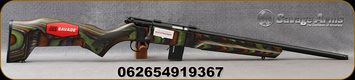 "Savage - 22WMR - Model 93 BNS Minimalist - Bolt Action Rimfire Rifle - Green Minimalist Laminate Stock/Black Finish, 18""Threaded Barrel, 10 Round Capacity, Mfg# 91936"