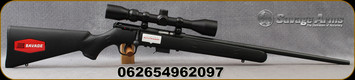 "Savage - 17HMR - Model 93R17 FXP - Bolt Action Rimfire Rifle Package - Black Synthetic Stock/Black Finish, 21""Barrel, 5 Round Detachable Magazine, Weaver 3-9x40mm Scope, Plex Reticle, Mfg# 96209"