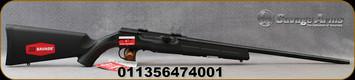 "Savage - 22WMR - A22 - Semi Auto Rifle - Black Synthetic Stock/Blued, 21""Barrel, 10 Round Detachable Rotary Magazine, Mfg# 47400"
