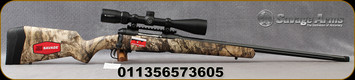 """Savage - 6.5Creedmoor - Model 110 Apex Predator XP Vortex Package - Bolt Action Rifle - Mossy Oak Mountain Country Range Camouflage Synthetic Stock/Blued, 24""""Fluted & Threaded Barrel, 4 Round DBM, Vortex Crossfire II 4-12x44 Riflescope, AccuTrigger,"""