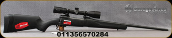 "Savage - 270Win - Model 110 Engage Hunter XP Package - Bolt Action Rifle - Matte Black Synthetic Stock/Blued, 22"" Barrel, 4 Round Detachable Magazine, Bushnell 3-9x40 Scope, Mfg# 57028"