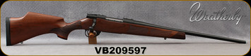 "Weatherby - 7mm-08Rem - Vanguard Camilla - Bolt Action Rifle - Grade A Turkish Walnut Stock w/Rosewood Forend & Grip Caps/Matte Bead Blasted Blued Finish, 20"" Barrel, Hinged Floorplate, Mfg# VWR7M8RR0O, S/N VB209597"