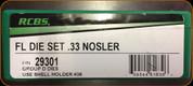 RCBS - Full Length Dies - 33 Nosler - 29301