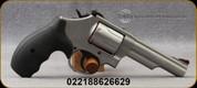 "Smith & Wesson - 357Mag - Model 66 - SA/DA 6-Round Revolver - Black Rubber Grips/Satin Stainless Finish, 4.25"" Barrel, Adjustable Rear Sight, Mfg# 162662"