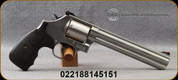 """Smith & Wesson - 357Mag - Model 686 Plus - 7 round revolver - Single/Double Action - Wood Grips/Stainless Steel, 7""""Barrel, Mfg# 150855"""