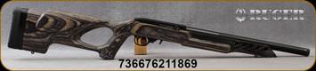 "Ruger - 22LR - 10/22 Target Lite - Semi-Auto Rimfire Rifle - Grey Laminate Thumbhole Stock/Satine Blued, 16.13""Barrel w/Aluminum Alloy Barrel Sleeve, Mfg# 21186"