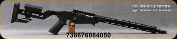"Ruger - 22WMRF - Precision Rimfire - Quick-Fit Precision Rimfire Adjustable Stock w/Magpul M-LOK Handguard/Black, Hard-Coat Anodized Finish/Cold Hammer-Forged 1137 Alloy Steel,18""Threaded(1/2""-28)Barrel, Mfg# 08405"