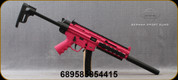 """GSG - 22LR - Model 16 - Semi-Auto - Pink Collapsible Stock w/extra Magazine storage compartment/Polymer Receiver/Black Finish, 16.25""""Hammer-Forged Barrel, Picatinny Rails - Non Restricted - Mfg# 416.00.11"""