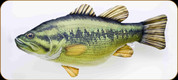 "GABY - Largemouth Bass Pillow - Medium - 26"" - GP-175105"