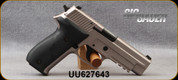 """Consign - Sig Sauer - 9mm - P226 - Black Hogue Grips/Matte Stainless, 4.4""""Barrel, c/w Sig Sauer P226 22LR Conversion Kit - All new in case"""