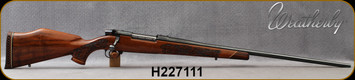 """Consign - Weatherby - 270WbyMag - Mark V Lazermark - 5-Panel - Claro Walnut w/Rosewood Caps/Polished Blued, 26""""Barrel, less than 20 rounds fired"""