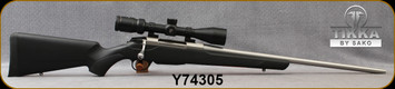 """Consign - Tikka - 308Win - T3X Lite Stainless - Black Synthetic/Stainless, 22.4""""Barrel - Mfg# TFTT29LL103, c/w Nikon Prostaff P3, 3-9x40mm, BDC Reticle, original Tikka box - Only 40 rounds fired"""