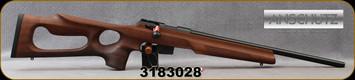 "Anschutz - 22WMR - 1761 D HB Walnut Thumbhole - Bolt Action Rifle - Walnut Thumbhole Stock/Blued, 20.25""Heavy Barrel, Adjustable Single-Stage Trigger, Hard Plastic Anschutz Case, Mfg# 015130, S/N 3183028"